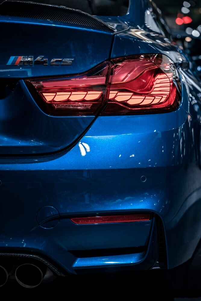 taillight of bmw